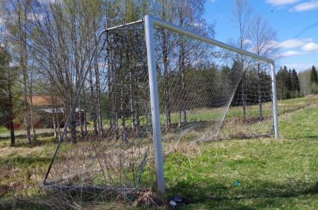 Närbild på ett av målen i Medelpad som jag aldrig vittjat under min (alltför) långa karriär som keeper. Foto: Pia Skogman, Lokalfotbollen.nu.
