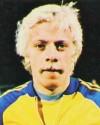 Anders Grönhagen i landslagsdressen på 1970-talet.