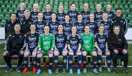 Sundsvalls DFF spelade hem division 1 Norra Svealand 2015 och besegrade sedan även Umeå Södra FF i kvalet och kvalificerade sig till Elitettan. En serie som man dessvärre åkte ur ifjol och är i år åter tillbaka i den norra Svealandsettan. Foto; Sofia Forell, SDFF:s hemsida.