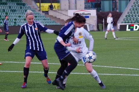 Ifjol klädde Kovland av dåvarande Elitettanlaget SDFF i DN-finalen med hela 6-1. De siffrorna får vi knappast se i kvällens final. Foto: Janne Pehrsson, Lokalfotbollen.nu.