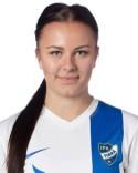 Mikaela Jensen lät vänsterkanonen tala vid 3-0-målet.