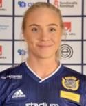 Linnéa Kvarnberg satte SDFF:s sena segermål mot Stensätra - men domaren gav målet till lagkompisen Alva Lodén..