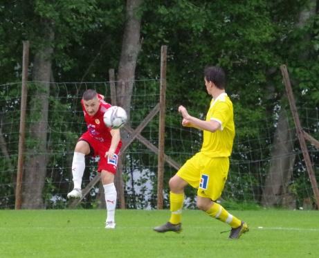 Ali Mahmoud satte Sunds segermål i Alnösundsderbyt mot Alnö, 3-2. Foto: Pia Skogman, Lokalfotbollen.nu.