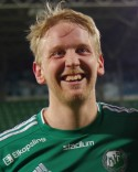 Daniel Wallsten satte ett tidigt ledningsmål för Östavall borta mot Teg.