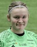 Söråker U;s målvakt Zandra Söderqvist-Lind fick en smäll mot huvudet och tvingades utgå med befarad hjärnskakning.
