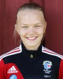 Mittbacken Signe Castenäs var inte bara bäst på plan, hon gjorde mål också.