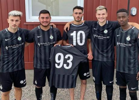 Norr Uniteds målskyttar mot Sundsvalls FF, fr v Amaro Bahtijar, Sevdjedin Haliti, Said Gavador (2), Hari Halilovic (2) och Abbas Abdukadir Ibrahim (2). På bilden saknasAlen Jasarevic. Foto: FC Norr United.