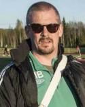 Ånges ordförande Magnus Bjurén sätter ner foten mot våldet inom fotbollen.