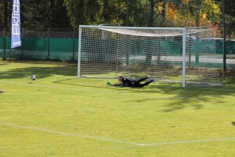 Östavalls målvakt enda ingripande i första halvlek.. Foto: Roger Mattsson, Lokalfotbollen.nu