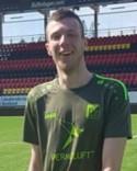 Hakim Rouass var en av två hattrickskyttar i Lucksta. Oliver Widahl var den andre.