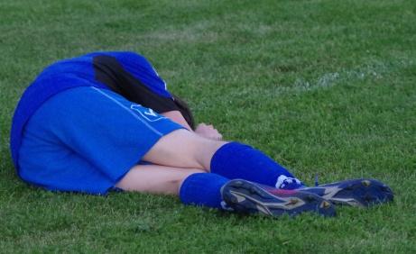 Inte bara matchen som var slut...Foto: Pia Skogman, Lokalfotbollen.nu