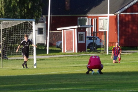 Bild 5. Gästernas keeper Markus Holdo deppar efter Henric Nylunds 4-0-mål. Foto: Pia Skogman, Lokalfotbollen.nu