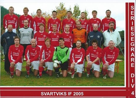 Alnö IF sprutar skumpa efter seriesegern i fyran 2006.
