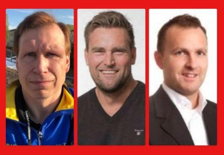 Tomas Berglund (t h) fortsätter som huvudtränare för Alnö IF:s herrlag i Medelpadsallsvenskan. Nya assistenter blir hans gamla parhästar Daniel Friberg och Jonny Svelander.