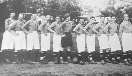 GIF Sundsvall vann Norrländska serien (motsvarande div. 3)1928/29 och även DM med det här laget. Foto: GIF Sundsvalls hemsida.