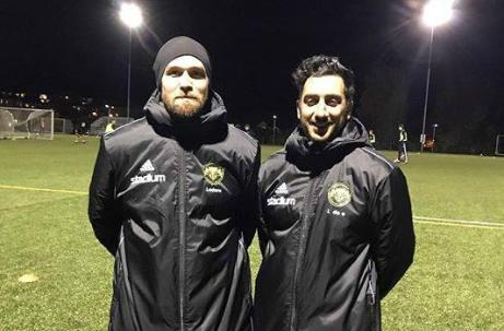 Martin Fors och Emad Nademi tränar Kuben den kommande säsongen. Foto: Kuben