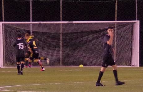 Alexander Nordin gör här segermålet i den 84:e minuten när Kuben 2 vinner med uddamålet av tre mot gästande FC Norr United. Alexander satte även matchens första mål. Foto: Pia Skogman, Lokalfotbollen.nu