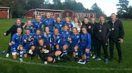 Härnösands SK seriesegrare div 2 Mellersta Norrland 2018 Foto: HSK:s hemsida.