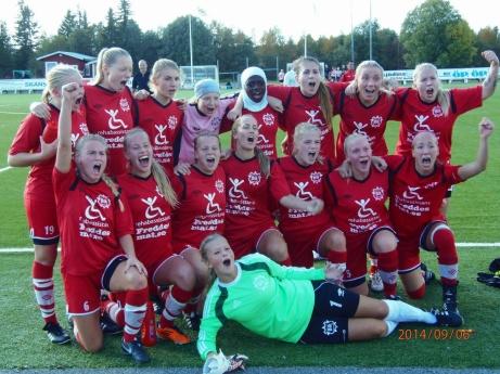 Bik SK_seriesegrare div 2 Mellersta Norrland 2014. Foto: Bik SK
