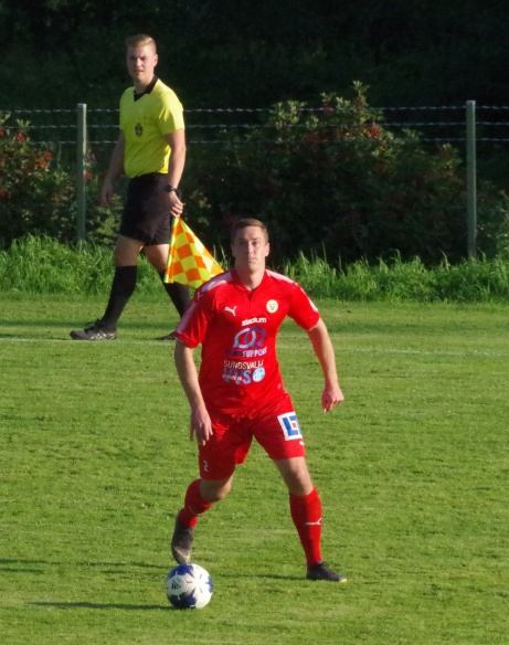 Mika Lindroos lämnar Sund och vänder tillbaka till Stöde. Foto: Pia Skogman, Lokalfotbollen.nu.