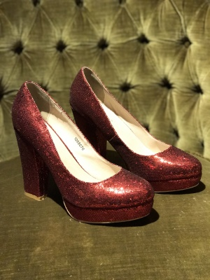 SECOND HAND friis & Co. Glitterpumps Stl 40