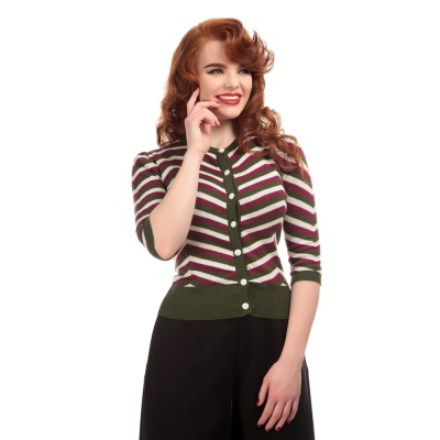 COLLECTIF Holly Chevron Kofta Olive Green