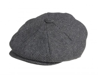 PEAKY BLINDERS Grey Herringbone Newsboy Cap