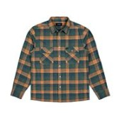 BRIXTON Archie L/S Flannel Green Plaid