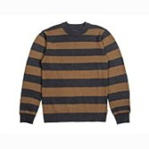BRIXTON Wes Sweater Washed Black