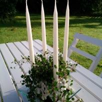 ljuskrona vit bord
