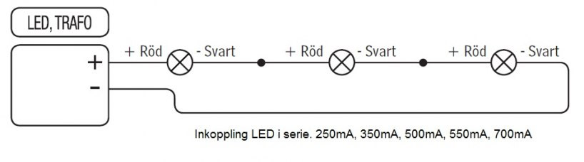 Kopplingsschema LED i serie