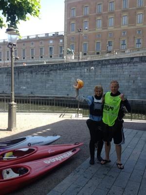 Kayak heroes in Stockholm