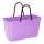 052 Hinza bag Large Purple - Green Plastic