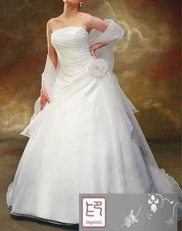 Brudklänning - Tube top med schiffong