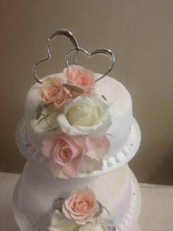 Cake top - Två Hjärtan