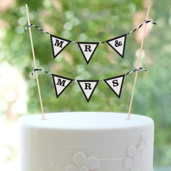 Cake top - Mr & Mrs vimpel