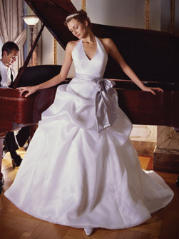 Brudklänning- Halterneck
