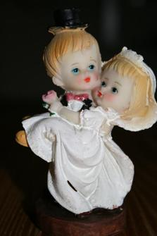 Cake top - Vintage romantiskt par