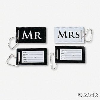 Bagageskyltar - Mr & Mrs