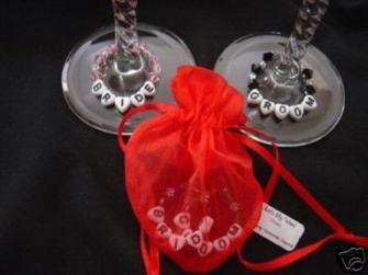 Glas smycke - Bride & Groom