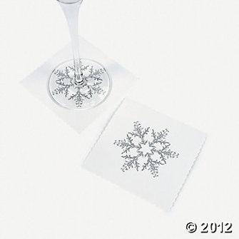 Glas underlägg - Vinter