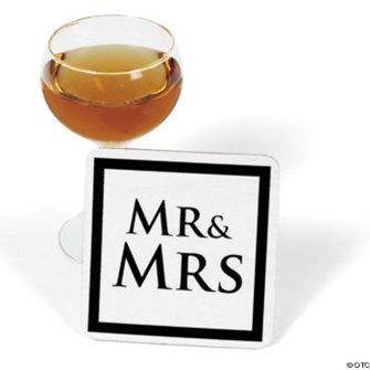 Glas underlägg - MR & MRS