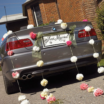 Bilskylt - Just Married