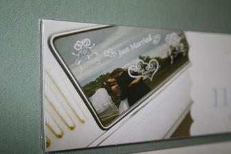 Bil dekoration - Just married