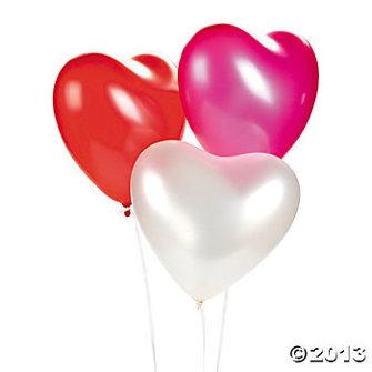 Ballong - Hjärta Röd