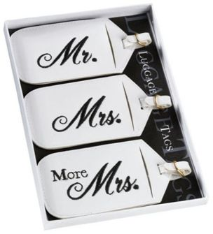 Bagage tags Mr & Mrs & more Mrs