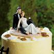 Cake top - Kärlek på stranden