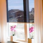 Solar-Screen monterad i lägenhet