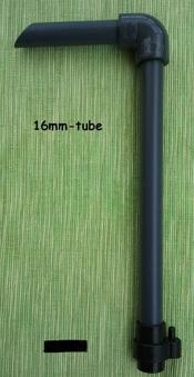Komplett kit för tyst filter - 16 mm valfri längd
