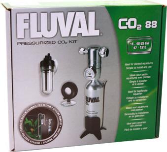 Fluval Co2-kit 88g, komplett -